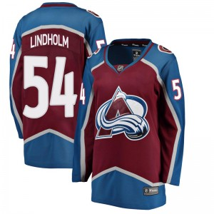 Fanatics Branded Women's Anton Lindholm Colorado Avalanche Women's Breakaway Maroon Home Jersey