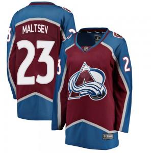 Fanatics Branded Women's Mikhail Maltsev Colorado Avalanche Women's Breakaway Maroon Home Jersey
