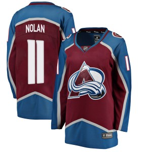 Fanatics Branded Women's Owen Nolan Colorado Avalanche Women's Breakaway Maroon Home Jersey