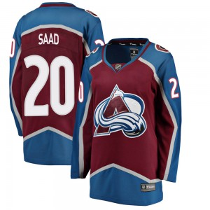 Fanatics Branded Women's Brandon Saad Colorado Avalanche Women's Breakaway Maroon Home Jersey