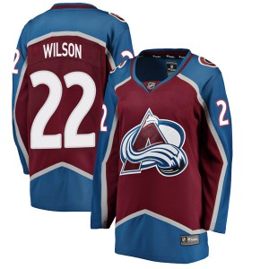 Fanatics Branded Women's Colin Wilson Colorado Avalanche Women's Breakaway Maroon Home Jersey