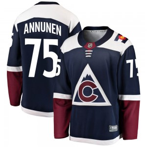 Fanatics Branded Justus Annunen Colorado Avalanche Men's Breakaway Alternate Jersey - Navy