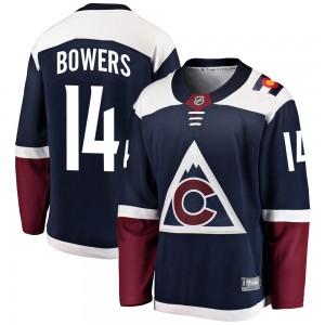 Fanatics Branded Shane Bowers Colorado Avalanche Men's ized Breakaway Alternate Jersey - Navy