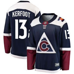 Fanatics Branded Alexander Kerfoot Colorado Avalanche Men's Breakaway Alternate Jersey - Navy