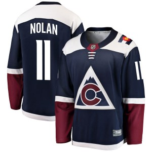 Fanatics Branded Owen Nolan Colorado Avalanche Men's Breakaway Alternate Jersey - Navy