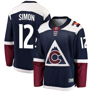 Fanatics Branded Chris Simon Colorado Avalanche Men's Breakaway Alternate Jersey - Navy