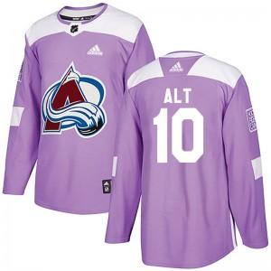 Adidas Mark Alt Colorado Avalanche Men's Authentic Fights Cancer Practice Jersey - Purple