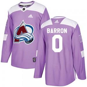 Adidas Justin Barron Colorado Avalanche Men's Authentic Fights Cancer Practice Jersey - Purple