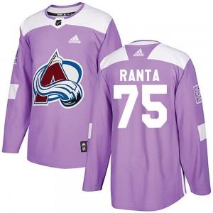 Adidas Sampo Ranta Colorado Avalanche Men's Authentic Fights Cancer Practice Jersey - Purple