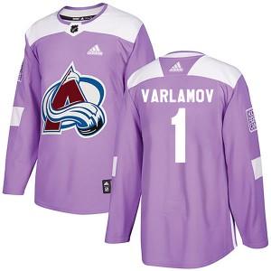 Adidas Semyon Varlamov Colorado Avalanche Men's Authentic Fights Cancer Practice Jersey - Purple