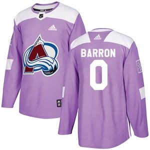 Adidas Justin Barron Colorado Avalanche Youth Authentic Fights Cancer Practice Jersey - Purple