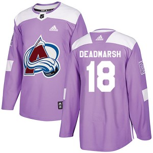 Adidas Adam Deadmarsh Colorado Avalanche Youth Authentic Fights Cancer Practice Jersey - Purple