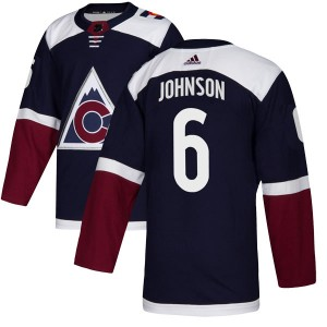 Adidas Erik Johnson Colorado Avalanche Men's Authentic Alternate Jersey - Navy