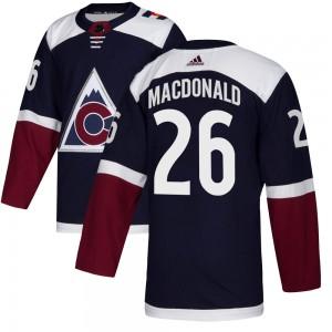 Adidas Jacob MacDonald Colorado Avalanche Men's Authentic Alternate Jersey - Navy