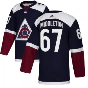 Adidas Keaton Middleton Colorado Avalanche Men's Authentic Alternate Jersey - Navy