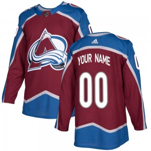 Adidas Men's Custom Colorado Avalanche Men's Authentic Burgundy Home Jersey