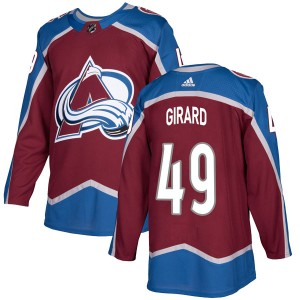Adidas Men's Samuel Girard Colorado Avalanche Men's Authentic Burgundy Home Jersey