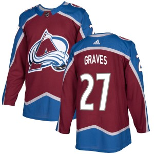 Adidas Men's Ryan Graves Colorado Avalanche Men's Authentic Burgundy Home Jersey