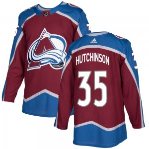 Adidas Men's Michael Hutchinson Colorado Avalanche Men's Authentic ized Burgundy Home Jersey