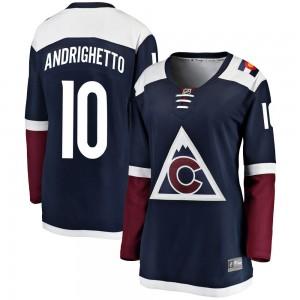 Fanatics Branded Sven Andrighetto Colorado Avalanche Women's Breakaway Alternate Jersey - Navy
