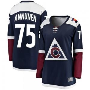 Fanatics Branded Justus Annunen Colorado Avalanche Women's Breakaway Alternate Jersey - Navy