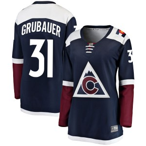 Fanatics Branded Philipp Grubauer Colorado Avalanche Women's Breakaway Alternate Jersey - Navy