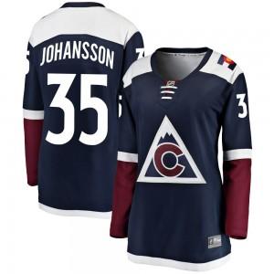 Fanatics Branded Jonas Johansson Colorado Avalanche Women's Breakaway Alternate Jersey - Navy