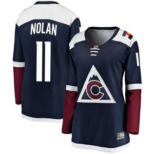 Fanatics Branded Owen Nolan Colorado Avalanche Women's Breakaway Alternate Jersey - Navy