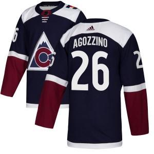 Adidas Andrew Agozzino Colorado Avalanche Youth Authentic Alternate Jersey - Navy