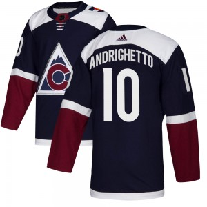 Adidas Sven Andrighetto Colorado Avalanche Youth Authentic Alternate Jersey - Navy