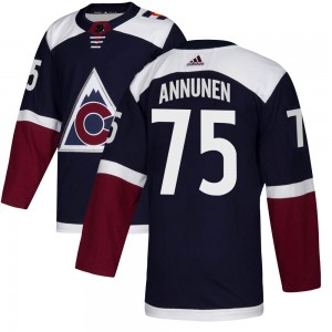 Adidas Justus Annunen Colorado Avalanche Youth Authentic Alternate Jersey - Navy