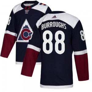 Adidas Kyle Burroughs Colorado Avalanche Youth Authentic Alternate Jersey - Navy