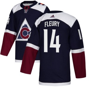 Adidas Theoren Fleury Colorado Avalanche Youth Authentic Alternate Jersey - Navy