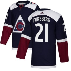 Adidas Peter Forsberg Colorado Avalanche Youth Authentic Alternate Jersey - Navy