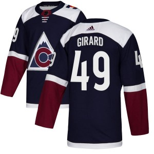 Adidas Samuel Girard Colorado Avalanche Youth Authentic Alternate Jersey - Navy