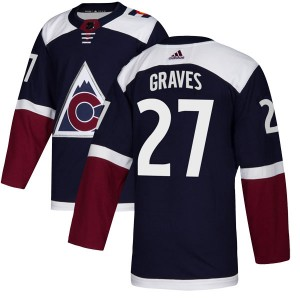 Adidas Ryan Graves Colorado Avalanche Youth Authentic Alternate Jersey - Navy