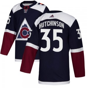 Adidas Michael Hutchinson Colorado Avalanche Youth Authentic ized Alternate Jersey - Navy