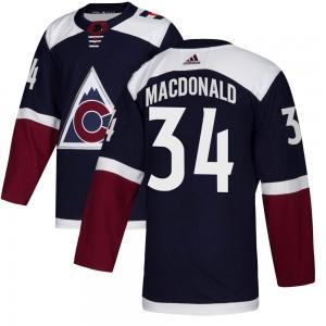 Adidas Jacob MacDonald Colorado Avalanche Youth Authentic Alternate Jersey - Navy