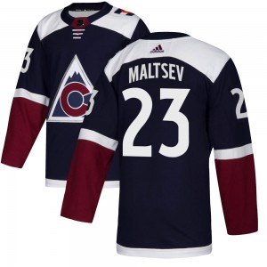 Adidas Mikhail Maltsev Colorado Avalanche Youth Authentic Alternate Jersey - Navy