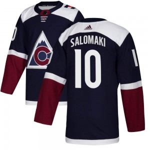Adidas Miikka Salomaki Colorado Avalanche Youth Authentic Alternate Jersey - Navy