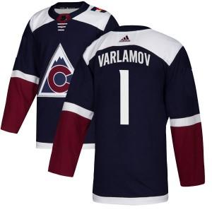 Adidas Semyon Varlamov Colorado Avalanche Youth Authentic Alternate Jersey - Navy
