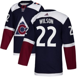 Adidas Colin Wilson Colorado Avalanche Youth Authentic Alternate Jersey - Navy