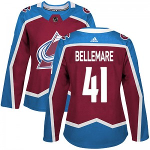 Adidas Women's Pierre-Edouard Bellemare Colorado Avalanche Women's Authentic Burgundy Home Jersey