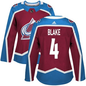Adidas Women's Rob Blake Colorado Avalanche Women's Authentic Burgundy Home Jersey