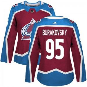 Adidas Women's Andre Burakovsky Colorado Avalanche Women's Authentic Burgundy Home Jersey