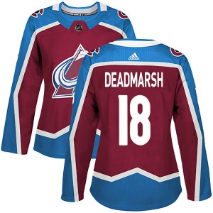 Adidas Women's Adam Deadmarsh Colorado Avalanche Women's Authentic Burgundy Home Jersey