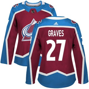 Adidas Women's Ryan Graves Colorado Avalanche Women's Authentic Burgundy Home Jersey