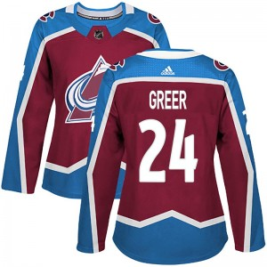 Adidas Women's A.J. Greer Colorado Avalanche Women's Authentic Burgundy Home Jersey