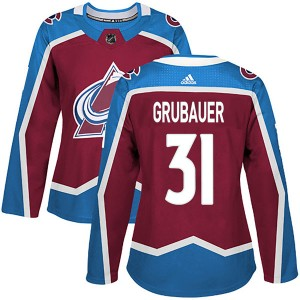Adidas Women's Philipp Grubauer Colorado Avalanche Women's Authentic Burgundy Home Jersey
