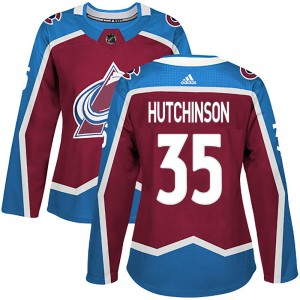 Adidas Women's Michael Hutchinson Colorado Avalanche Women's Authentic ized Burgundy Home Jersey